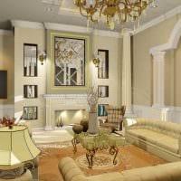 вариант необычного декора зала в частном доме картинка