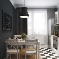 идея светлого стиля кухни 8 кв.м фото