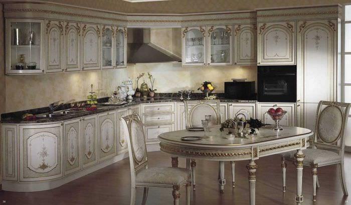 идея красивого стиля квартиры в романском стиле