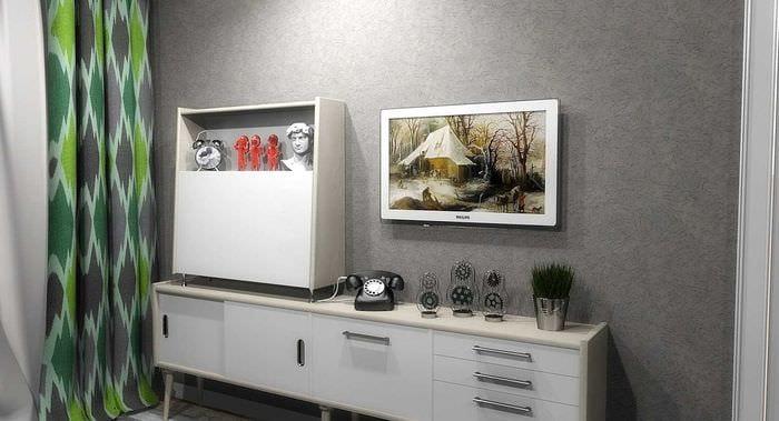 вариант интересного стиля комнаты в советском стиле