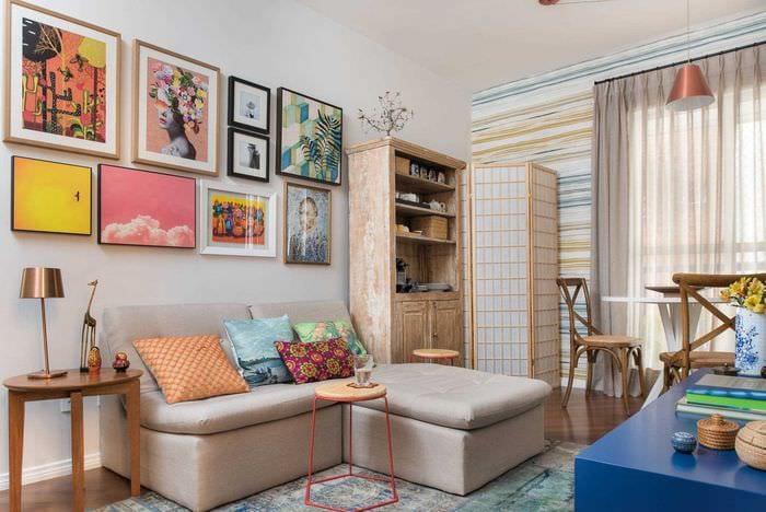 идея необычного дизайна небольшой комнаты в общежитии