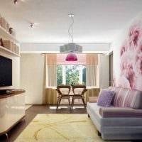 вариант необычного стиля гостиной спальни картинка
