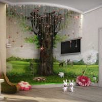 идея светлого декора детской комнаты для девочки 12 кв.м картинка