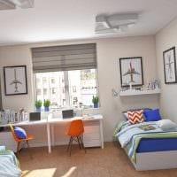 идея красивого интерьера детской комнаты для двоих девочек картинка