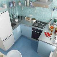 идея красивого дизайна двухкомнатной квартиры в хрущевке картинка