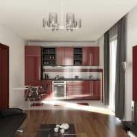 вариант светлого интерьера двухкомнатной квартиры фото