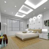 идея светлого интерьера гостиной спальни 20 кв.м. фото