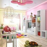вариант яркого интерьера комнаты для девочки 12 кв.м фото