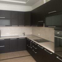 пример необычного дизайна кухни 14 кв.м фото