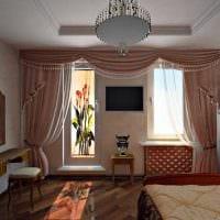 вариант красивого интерьера малогабаритной комнаты фото