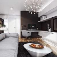 вариант красивого сочетания цвета в стиле современной квартиры картинка
