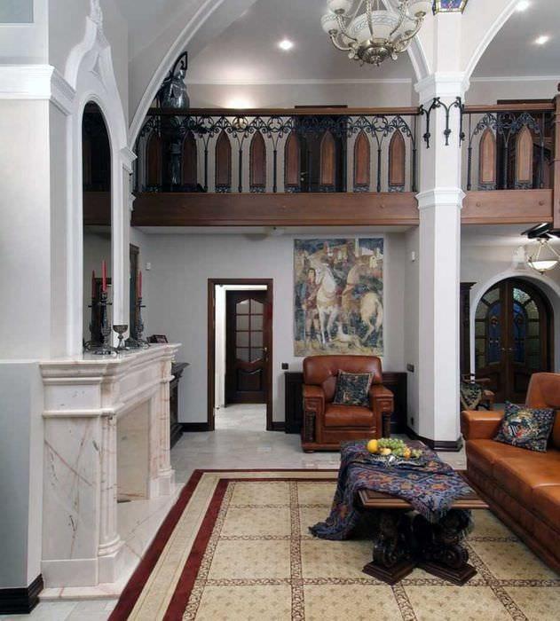 идея красивого интерьера квартиры в романском стиле