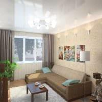 вариант яркого стиля двухкомнатной квартиры в хрущевке картинка
