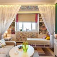вариант необычного декора спальной комнаты 18 кв.м. фото