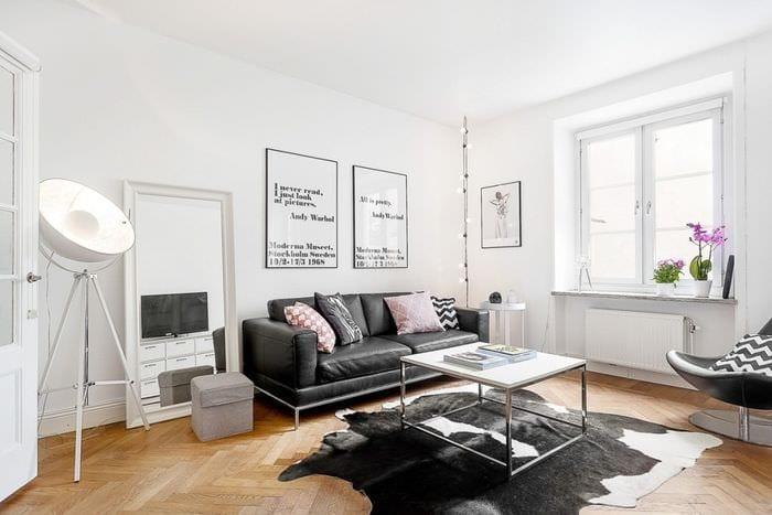 идея красивого стиля квартиры в скандинавском стиле