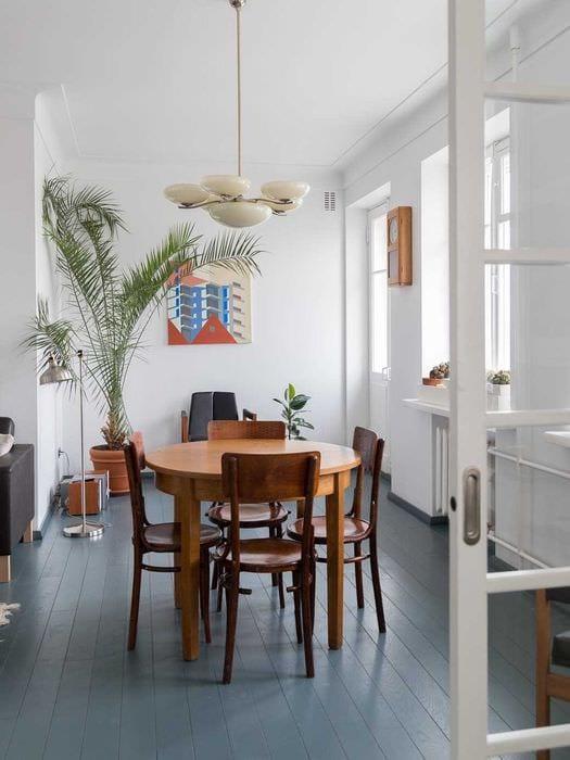 идея необычного дизайна квартиры в советском стиле
