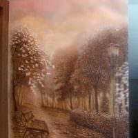идея яркого дизайна дома с росписью стен фото