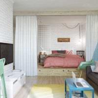 вариант яркого декора спальни гостиной картинка