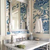 вариант применения яркого голубого цвета в стиле квартиры фото