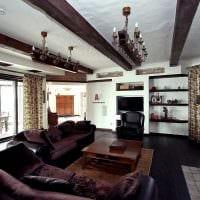 вариант применения необычного дизайна комнаты в стиле ретро картинка