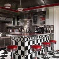 пример использования светлого декора комнаты в стиле ретро фото