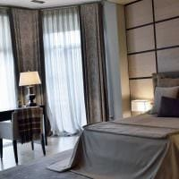 пример применения современных штор в красивом дизайне комнате картинка