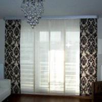 пример использования современных штор в необычном декоре квартире фото