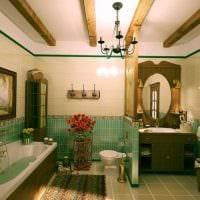 вариант использования светлого интерьера комнаты в стиле ретро картинка