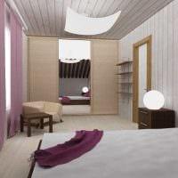 идея применения светлого ламината в ярком декоре квартиры картинка