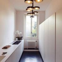 вариант применения светового дизайна в необычном декоре дома картинка