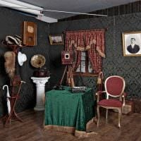 вариант применения яркого декора комнаты в стиле ретро фото
