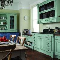 пример применения зеленого цвета в светлом декоре квартиры картинка