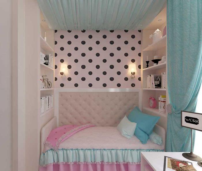 идея необычного стиля детской комнаты для девочки 12 кв.м