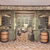 идея необычного стиля дома с росписью стен фото