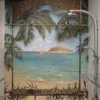 вариант необычного декора квартиры с росписью стен картинка
