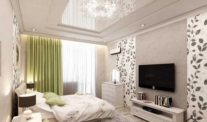вариант красивого стиля спальни гостиной
