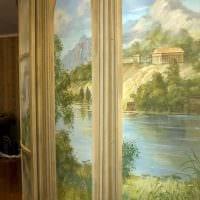 идея яркого стиля дома с росписью стен фото