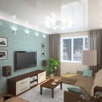 идея красивого стиля спальни гостиной фото