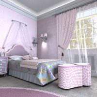 идея яркого дизайна комнаты для девочки 12 кв.м картинка