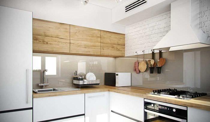 пример красивого декора кухни 8 кв.м