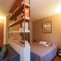вариант светлого интерьера маленькой комнаты в общежитии картинка