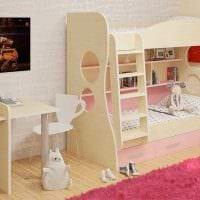 пример необычного дизайна детской комнаты для двоих девочек фото