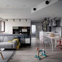 пример необычного дизайна двухкомнатной квартиры картинка