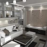 идея необычного интерьера двухкомнатной квартиры картинка