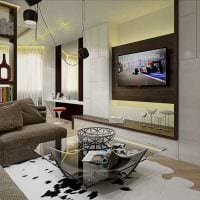 идея необычного декора спальни гостиной 20 кв.м. фото