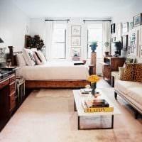 вариант красивого стиля гостиной спальни 20 кв.м. картинка