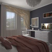 идея светлого интерьера гостиной спальни фото