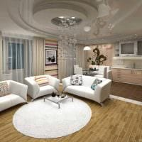 идея красивого дизайна квартиры студии картинка