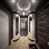 вариант яркого стиля современной прихожей комнаты фото