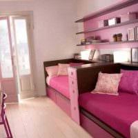 идея необычного декора спальной комнаты для девочки в современном стиле картинка